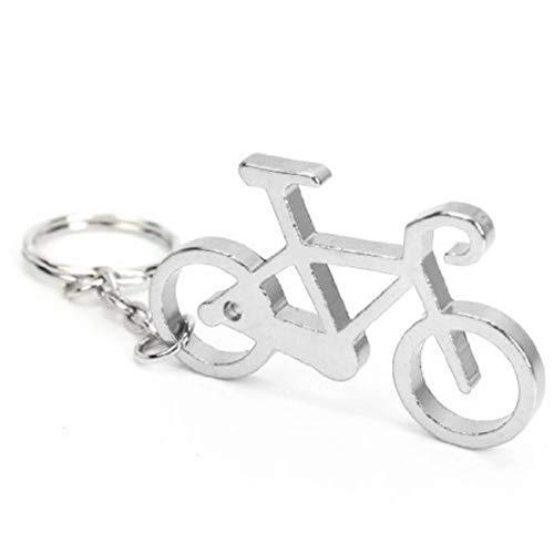 Gamloious Neuheit Fahrrad Keychain Keyring Flasche Wein Bier-Öffner-Werkzeug, Silber