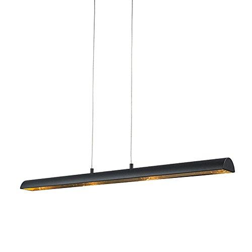 QAZQA Modern Esstisch Pendellampe  4-flammig schwarz-Gold