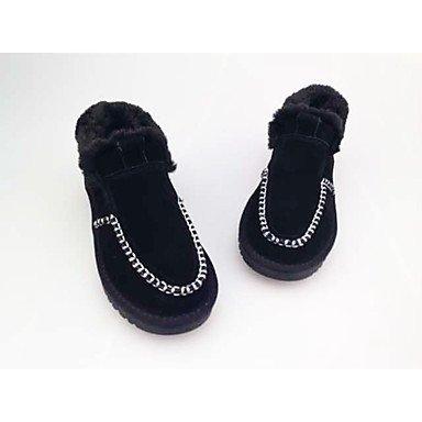 Slippers & amp da uomo;Pelle Inverno Comfort casual piani del tallone sandali cammello nero sandali US9.5 / EU42 / UK8.5 / CN43