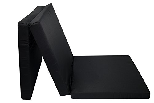 ZOLLNER Práctico colchón plegable / colchoneta plegable camping / cama para invitados / colchón supletorio, 65x195 cm, negro, en varios colores, del especislista textil para hostelería, serie 'Club'