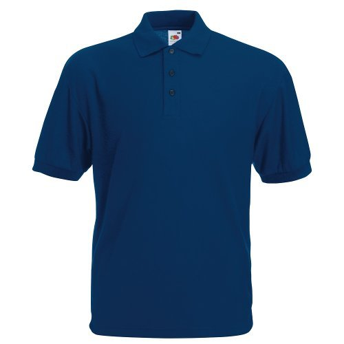 Polo-Shirt * 65/35 Polo * Fruit of the Loom Farbe navy Größe M