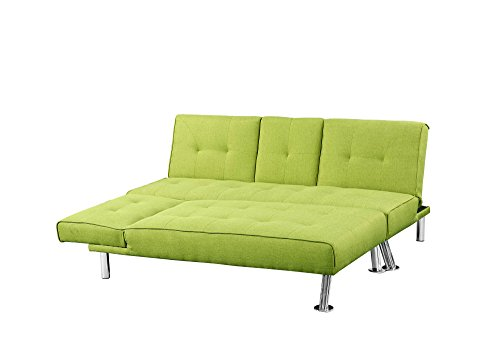 New York 3 / 4 Seater Corner L Shaped Fabric Sofa Bed & Chaise ...