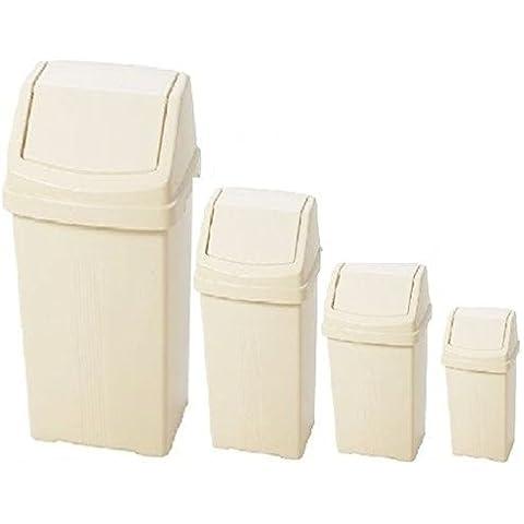 8L 15L Cestino Pattumiera in plastica, Calico Crema Da 25rifiuti cestino polvere nuovo, Size 50 Litre