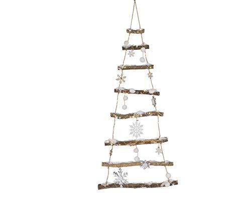 Ksd - albero di natale con 90 led, in legno di betulla