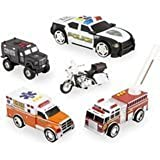 Fast Lane Lights and Sounds Emergency Vehicle Gift Set - 5 Piece by Toys R Us
