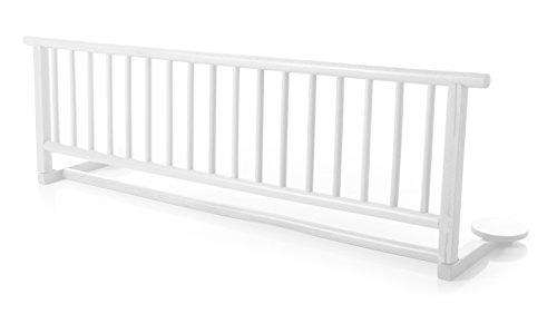 Bettschutzgitter Bettgitter zum Klappen aus massivem Bucheholz in Buche Weiss