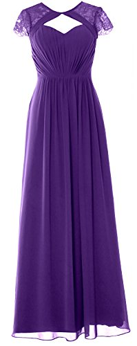 MACloth Elegant Cap Sleeves Long Bridesmaid Dress 2018 Evening Formal Gown Regency