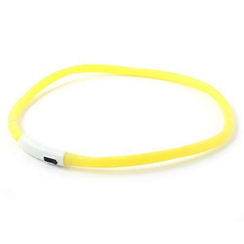 JFSH Nuevos Mascotas Perros Collares para Perros Led USB Recargable Ajustable Intermitente Noche Collar De Perro Plástico Cuello Sólido