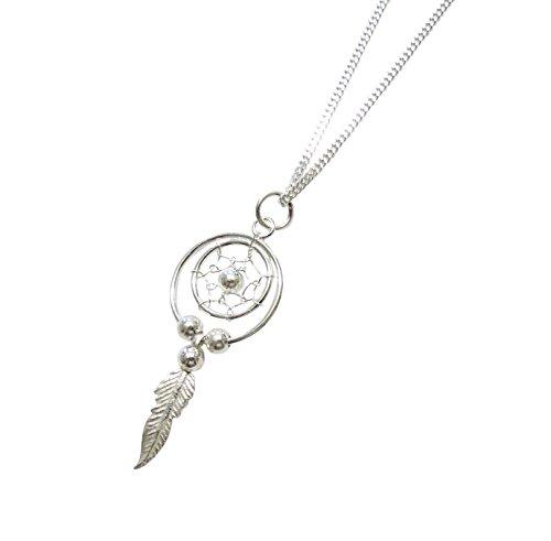 Kette Halskette mit Anhänger Traumfänger 3 Längen Indianerschmuck 925er Silber (50)