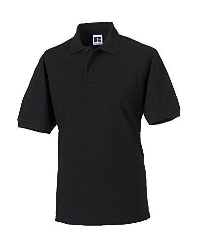 Russell - robustes Pique-Poloshirt - bis Gr. 6XL / Black, L L,Black (Pique Polo-shirt)