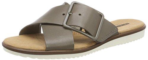 Clarks Damen Kele Heather Offene Sandalen, Grün (Sage Leather), 40 EU (Pantoletten Damen Clarks Schuhe)
