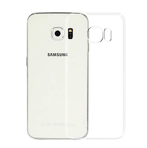 NEW'C Coque pour Samsung Galaxy S6 Edge, [ Ultra Transparente Silicone en Gel TPU Souple ] Coque de Protection avec Absorption de Choc et Anti-Scratch