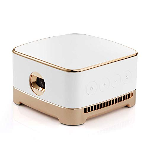 Mankvis Proyector para el hogar, pequeño Mini proyector portátil inalámbrico,...