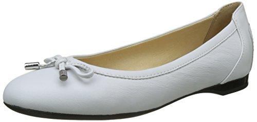 Geox Damen D Lamulay D Geschlossene Ballerinas, Weiß (White), 39 EU