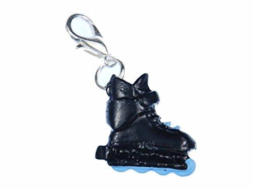 des Charm Anhänger Rollschuhe Inlineskates Skates schwz blau ()