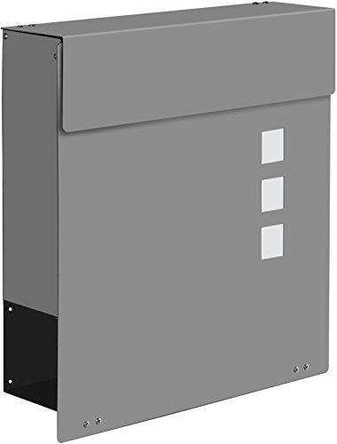 Frabox Design Briefkasten NAMUR EXKLUSIV Stahl lackiert, RAL 7016 Anthrazitgrau - 3