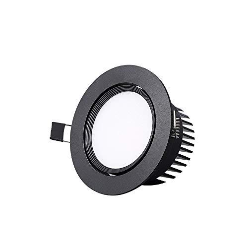 Wlnnes Led30W Luz blanca Negro Empotrable Downlight AC110-240V Empotrado Ángulo ajustable 5w7w20wRecesado...