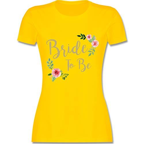 JGA Junggesellinnenabschied - Bride to Be - S - Gelb - L191 - Damen Tshirt und Frauen T-Shirt