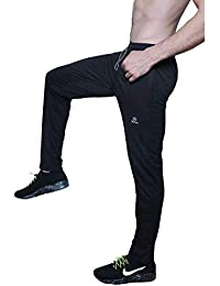 ROLLTOP® Men's Cotton Rich Blend Track Pants, Joggers, Sports Gym Lower Pajama with Zip Pockets Slim Fit