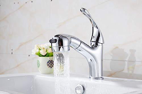 JWLT Waschbecken * Kupfer Schweineschwanz zieht Waschbecken heißen und kalten Wasserhahn, weiß