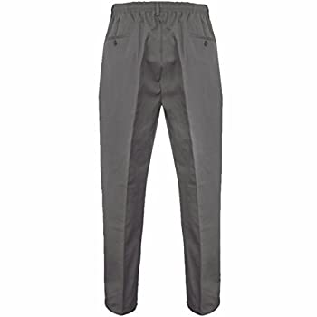 Stylo Online Mens Smart Rugby Trousers Fully Elasticated Stretch Waist Band With Draw Cord Comfortable Fit Workwear Bottoms Straight Leg Casual Formal Work Pants Size 30-48 2