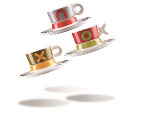 Vice Versa Mayday Lot de 2 tasses à café, Porcelaine, multicolore, 3 unités