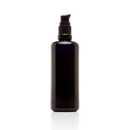 Face Therapy Lotion (Infinity Sturzglas 5ml (.17FL OZ) schwarz UV-Glas Push Pumpe Flasche, glas, schwarz, 100 ml)