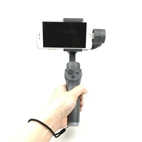 Wokee Erweiterbar Einbeinstativ mit Stativ und Shutter Remote für Telefon Premium & Robust Design Handschlaufe Lanyard Gürtelschlaufe für DJI OSMO Mobile Handheld-Smartphone Gimbal (Remote Erweiterbar)