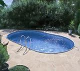 PREMIUM Set Pool Schwimmbecken Ovalpool 8,00 x 4,00 x 1,50m IH 0,8mm