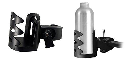 Lilware Multifunctional Bottle Holder Verticale Manubrio Portaborraccia per Bicicletta. Bici Supporto per Thermo Coppa / Bottiglia di Acqua / Tazza Portabibite e Altre Bibite. Leggero e Regolabile Titolare Gabbia di Bevande. nero
