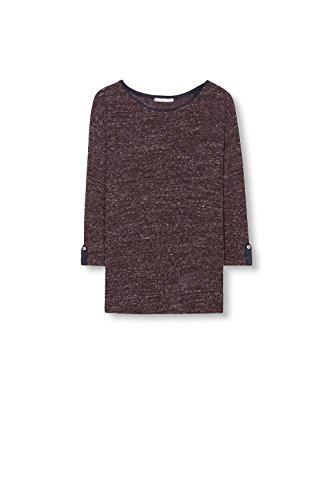 edc by Esprit 096cc1k047, T-Shirt Femme Rouge (GARNET RED 5 624)