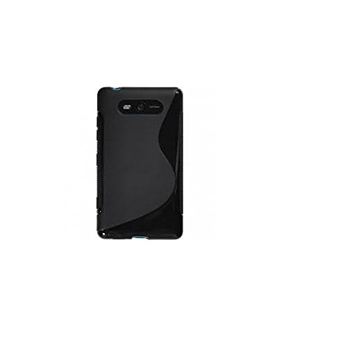 Nokia lumia 820 Magic Brand S-Line Black Soft Silicon Back Cover Case  available at amazon for Rs.249