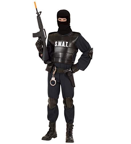 GYD S.W.A.T. Officer (Overall, Schusssichere Weste, Gürtel mit Halfter und Tasche, Knieschützer, Ellenbogenschützer, Maske) Größe M Officer-overall