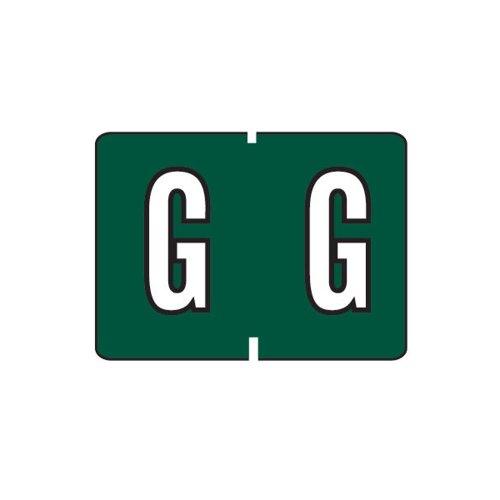 Smead A-Z color-coded etiquetas, G, verde oscuro, 252etiquetas por paquete (22027)