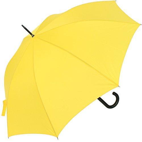 RS-Stockschirm groß stabil für Damen und Herren mit Automatik- gelb -