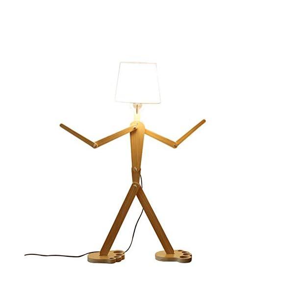 OOFAY-LIGHT-Bodenstnder-Leuchten-Verstellbare-Eckboden-Lampe-Hlzerne-Schwenkarm-Lampen