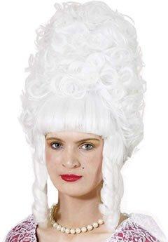 Lady Pompadur Mittelalter Rokoko Zeit Perücke weiß