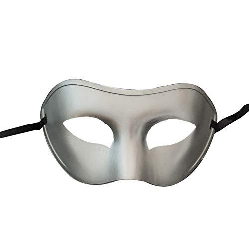 Ndier Maske kostüm Erwachsene Maskerade einfache Art venezianischer Partei Multi Usage Karneval Prop Maske für Männer und Frauen Silber Maske Maske (Einfache Venezianische Kostüme)