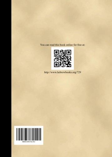 Sefer Bate kehunah Vol 1 por Isaac ben Judah, Rappaport