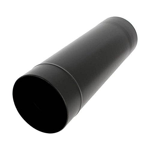 Tuyau rigide de 50cm émail noir mat Diamètre 150mm - 344501