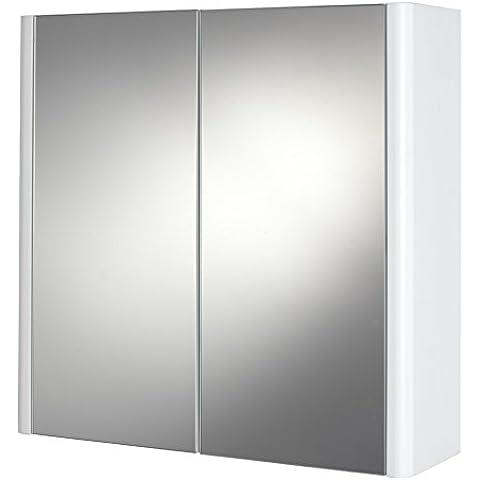 Canterbury - Armario de pared, blanco mate, doble puerta, armario de baño