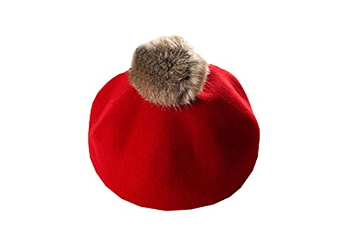 Vintage Style laine rouge vif Beret style Beret britannique