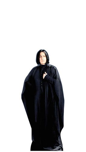 HARRY POTTER from The Official Books - Star Cutouts Mini Pappaufsteller von Professor Snape, Alan Rickman, 91 cm - Harry Potter Severus Snape Kostüm