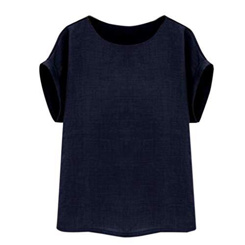 Frauen Vintage Kurzarm Baumwolle Leinen Beiläufige Lose Crop Tops Westen Bluse Sommer neu Shirt -