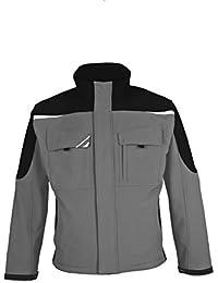 BESTWORK Softshell Jacke grau/schwarz Gr. S S,Grau/Schwarz