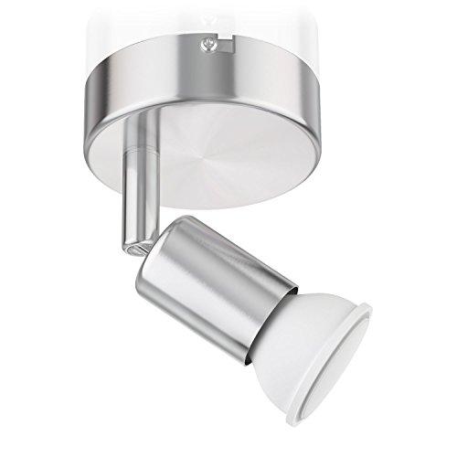 ledscom.de Applique LUNARA, à Une Ampoule avec 340lm LED GU10 Ampoule, Blanche