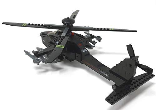 Modbrix 1484020 – ★ Bausteine Apache AH-64 Kampf Hubschrauber mit LED Beleuchtung & Sound inkl. custom US ARMY Special Forces Soldaten aus original Lego© Teilen ★ - 4