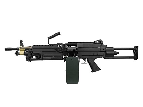 A&K M249 PARA Vollauto Softair / Airsoft Light Machine Gun Maschinengewehr -schwarz- < 0,5 Joule