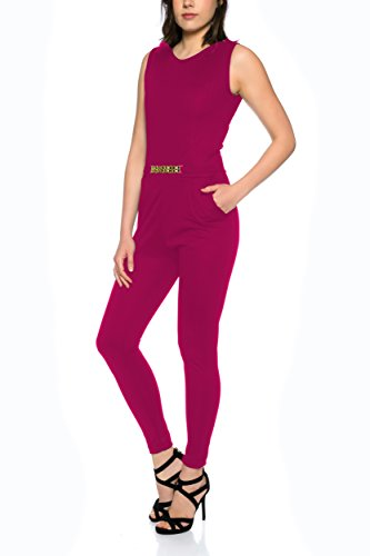 Eleganter Jumpsuit Overall von Crazy Age S-XL (L, Bordeaux) - 2