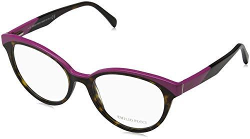 Emilio pucci ep5035, occhiali da sole unisex-adulto, marrone (avana), 53.0